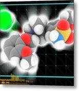 Tamsulosin Hydrochloride Molecule Metal Print