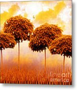 Tangerine Trees And Marmalade Skies Metal Print by Mo T