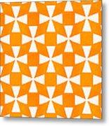Tangerine Twirl Metal Print