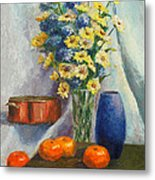 Tangerines And Tome Metal Print by Beth Johnston