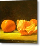Tangerines Metal Print by Ann Simons