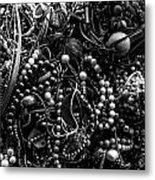 Tangled Baubles - Bw Metal Print