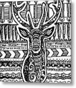 Tangled Deer Metal Print