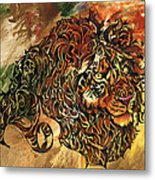 Tangled Lion Metal Print