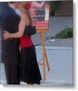 Tango Dancing On The Street Metal Print