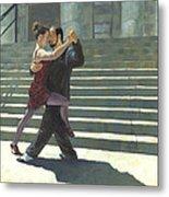 Tango On The Square Metal Print