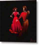 Tango - Scratch Art Series - # 40 Metal Print
