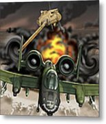 Tank Plinking With The A-10 Metal Print