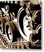 Tank Tracks Metal Print
