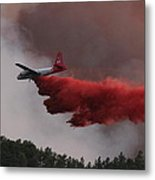 Tanker 07 Drops On The Myrtle Fire Metal Print