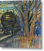Tankers On The Line Metal Print by Donald Maier