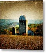 Tanner Hill Farm In The Fall Connecticut Usa Metal Print
