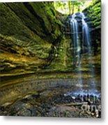 Tannery Falls Near Pictured Rocks National Lakeshore - Munising  Metal Print