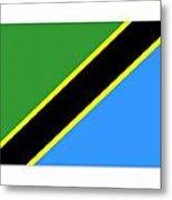 Tanzania Flag Metal Print