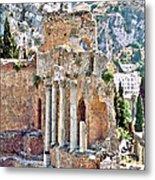 Taormina Amphitheater Metal Print