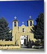 Taos Adobe Church Metal Print