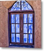 Taos Pueblo Church Window Metal Print