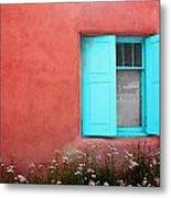 Taos Window Iv Metal Print
