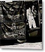 Tapestries Of  Elvis Presley  Hawai Concert Jesus Christ Sheep Horses Flags Armory Park Tucson Az Metal Print