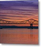 Tappan Zee Bridge Sunset Metal Print