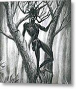 Tar Girl In A Tree Metal Print