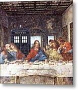 Tardis V Leonardo Da Vinci Metal Print