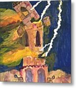 Tarot 16 The Tower Metal Print