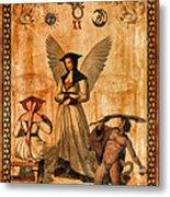 Tarot Card Judgement Metal Print