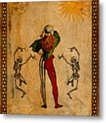 Tarot Card The Fool Metal Print