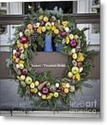 Tarpley Thompson Store Wreath Metal Print