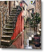 Tarquinian Red Stairs Metal Print