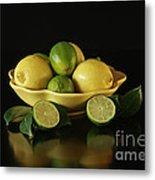 Tart And Tasty With Lemon And Lime Metal Print