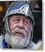 Tartan Day Parade Nyc 2013 Shetland Isle Celtic Warrior Armor Metal Print