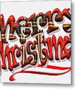Tartan Merry Christmas Metal Print