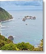 Tasman Sea At West Coast Of South Island Of New Zealand Metal Print