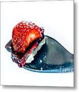 Taste Sensation On A Silver Spoon Metal Print