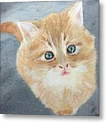 Tater Bud Kitty Metal Print