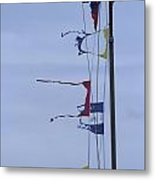 Tattered Flags In A Storm Metal Print
