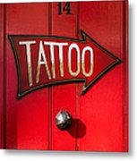 Tattoo Door Metal Print