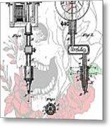 Tattoo Machine Patent Metal Print by Dan Sproul