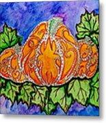 Tattoo Pumpkin Patch Metal Print