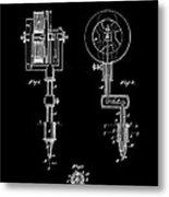 Tattooing Machine 3 Patent Art 1891 Metal Print by Daniel Hagerman