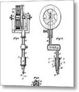 Tattooing Machine Patent Art  1891 Metal Print