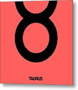Taurus Zodiac Sign Black  Metal Print