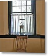 Tavern Window And Chair Metal Print