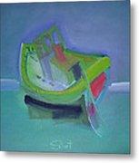 Tavira Fishing Boat Abandoned Metal Print