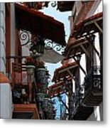 Taxco Balconies Metal Print