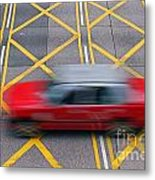 Taxi Metal Print by Lars Ruecker