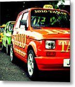 Taxi Line Metal Print