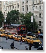 Taxi Stand Metal Print